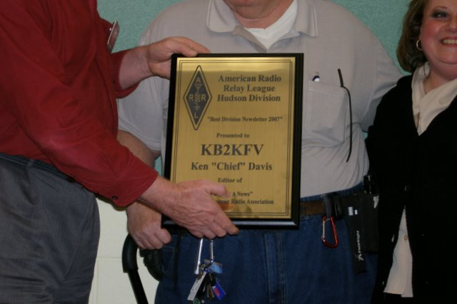Hudson Divison Newsletter of The Year Plaque